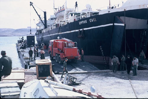Loading Black Pig at Tobruk