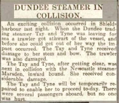 Dundee Courier 14 12 1912 Tay Tyne