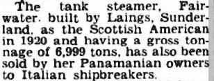 Fairwater Press Cutting 1953