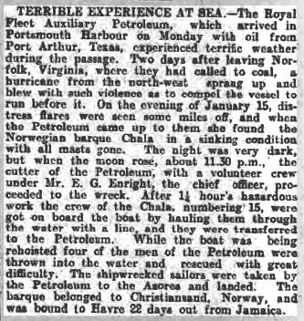 Hampshire Advertiser 7 February 1914