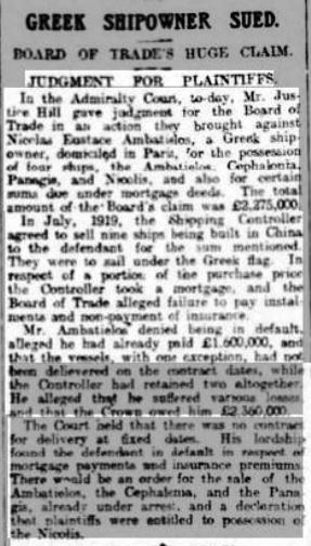 Lincolnshire Echo 15 Jan 1923 Maunder