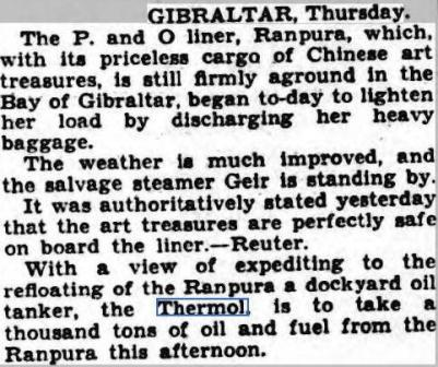 Ports Even News 16 April 1936