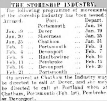 Ports Even News 19 Jan 1911 Industry