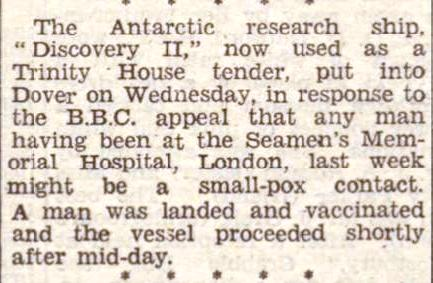 Press Cutting Dover Express 14 Mar 1947