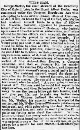 Press Cutting London Evening Standard 16 1 1886