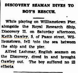 Press Cutting Williamstown Chronicle 29 Feb 1936