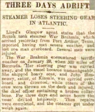 Press Report 14 2 1922 War Brahmin