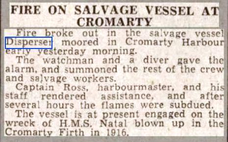 Press Report Aberdeen Journal 16 Nov 1938