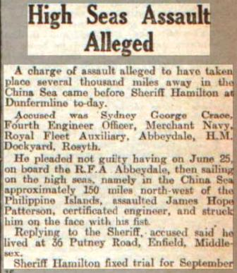 Press Report Even Telegraph 24.8.49 Abbeydale