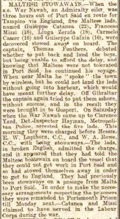 Press Report Ports Even News 25 Oct 1920