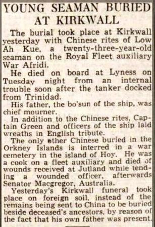 Press report - Aberdeen Jou 15.4.38 War Afridi