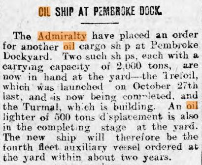 Press report Cambria Leader 2 5 1914