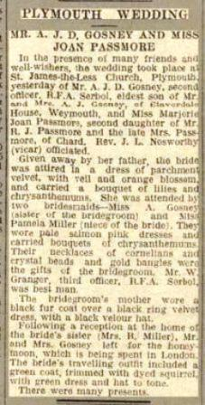 Serbol wedding West Morn News of 21-12-33