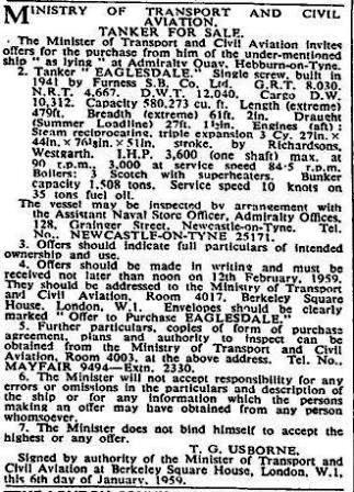 Times Eaglesdale 15 1 1959