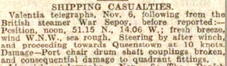 W.Sepoy Dundee Couier press report 1926