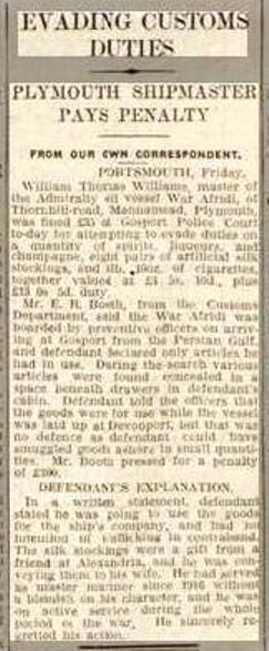 War Afridi Press report 1933