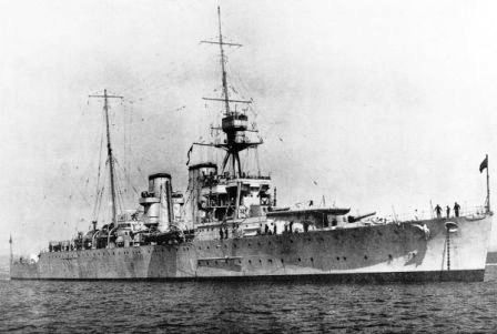 HMS Effingham D98 in 1925