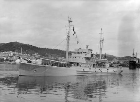 John Biscoe in 1956 renamed HMNZN Endeavour