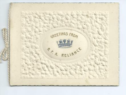 RFA Reliance Xmas Card