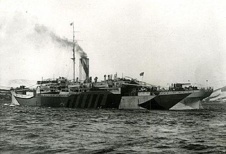 HMS Bayano with dazzle