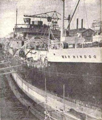 War Hindoo 1948 at Kure dry dock