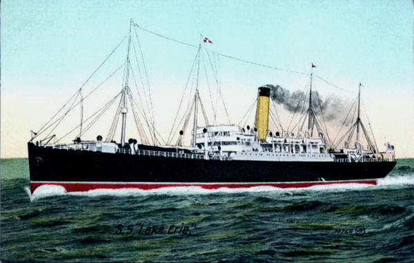 SS Lake Erie artist unknown before entering RFA Service as RFA Aspenleaf